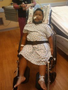 Xzavier Davis-Bilbo was struck by a distracted driver and is now paralyzed from the diaphragm down and depends on a respirator